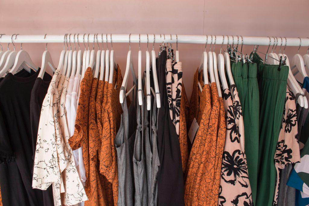 clothes in a wardrobe, wardrobe dehumidifier